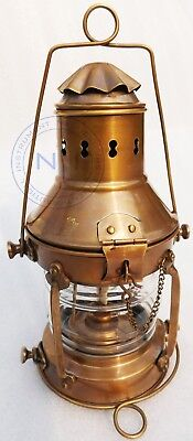 Antique Vintage Brass Ship Marine Boat Lantern 12''Maritime Rail Road Oil Lamps