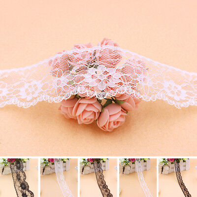 Wholesale! 10 yds Embroidered Net Lace Trim Ribbon Wedding Decor 25/40/65MM