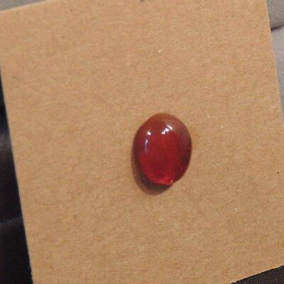 Mexican Cherry Orange Opal Cabochon 9x7mm with 4mm dome cabochon (13258)