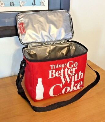 Coca Cola™ ~ Things Go Better With Coke ~ Insulated Tote ~ 11 x 8.5 x 6.5