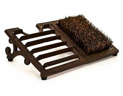 NEW Rustic Cast Iron Wellies Large Boot Jack Pull Grate Scraper Cleaning Brush