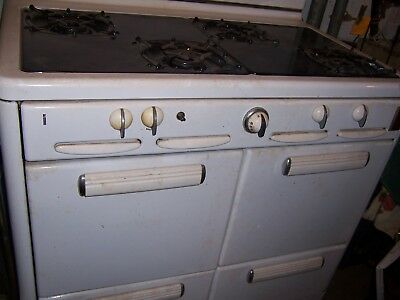 Vintage Antique 1940s Roper Double Oven Natural Gas Stove