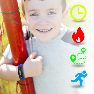 Kids Fitness Activity Tracker Smart Wristband Watch Pedometer Date Time Calories