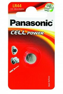 "New Panasonic Lr44 1.5V Micro Alkaline Specialist Power Battery ""Panalr44B1"""