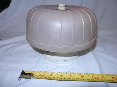 Nice Deco Depression Era Vintage Ceiling Lamp Light Fixture with Glass shade