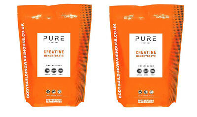 Creatine Monohydrate Powder 2kg Bulk Deal 100% Pure Micronised Creatine Free P&P