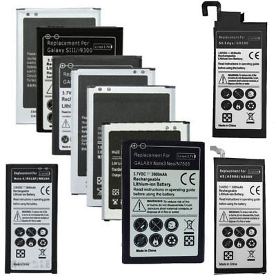 Replacement Battery For Samsung Galaxy S2 S3 S4 Mini S5 S6 Note 1 2 3 4 J3 J7