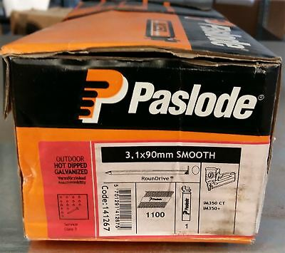 Paslode Hot Dip Galv Smooth Handy Pack 3.1x90mm Box of 1100 Nails & 1 Fuel Cell