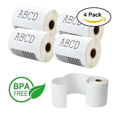 "4 Roll 220 Labels 1 Roll Straight cut Sheet Self Adhesive Shipping Label 4"" x 6"""