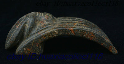 Old China Hongshan Culture Ancient Jade Stone Carved Cicada Altar Statue Pendant