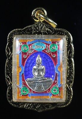 Nice in case Phra Luang Pho So Thon Yantra Genuine,Thai Amulet,RichLuck.