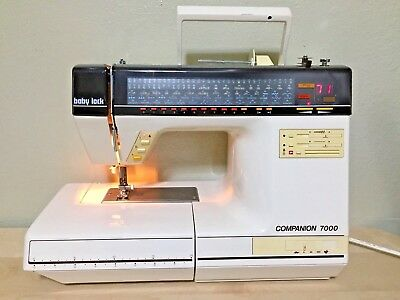 Baby Lock Companion 7000 Embroider Sewing Machine with foot pedal