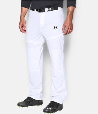 Under Armour Men's White UA Clean Up Open Relaxed Fit Baseball Pants