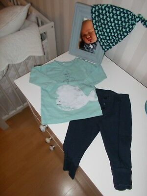 name it*Langarm-Shirt*mint*Wal*68*Longsleeve*I WHALY LIKE YOU*süßes Kombiteil*