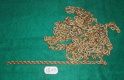15 Ft. of Solid BRASS CHAIN-d