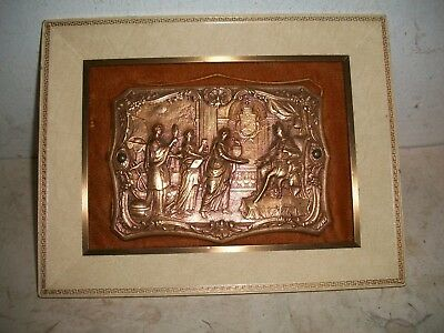 Beautiful Signed Ruskin Bronze Plaque Gifts for the King Arts & Crafts england