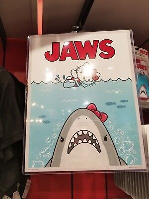 New Sanrio Hello Kitty and Jaws Sign Jaws with Hello Kitty Poster Universal RARE