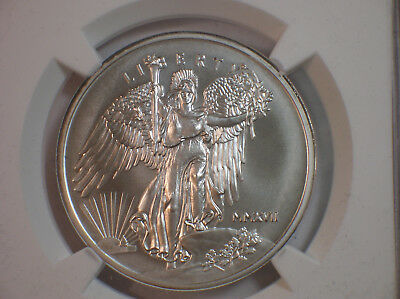 2017 Saint-Gaudens Winged Liberty 1 oz Silver Medal NGC MS69 Mercanti