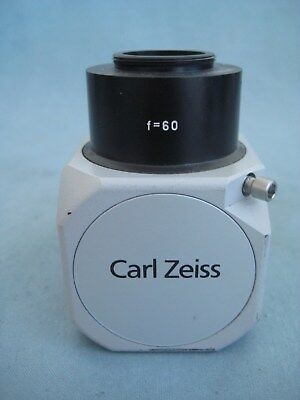 ZEISS f 60 ADAPTER WITH CMOUNT FOR SURGICAL MICROSCOPE
