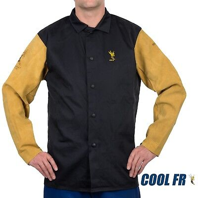 Weldas® COOL FR™ Welding/Fire Retardant/Dielectric Jacket - Cotton and Leather