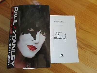 """PAUL STANLEY of KISS signed FACE THE MUSIC 2014 Book """"ROCK AND ROLL ALL NITE"""""""