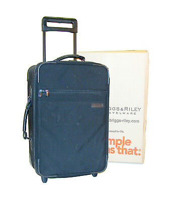 """Briggs & Riley Baseline 21"""" One-Touch Expandable Carry-On Upright ~ U21NX Black"""