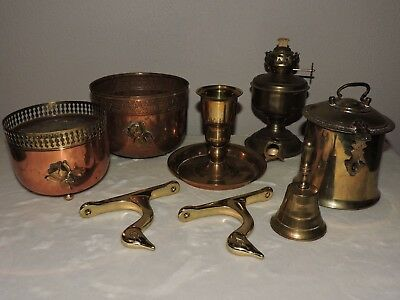 Vintage BRASS COPPER Items Mixed Lot
