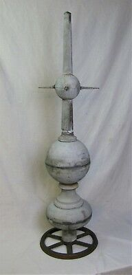 Antique Architectural Folk Art Zinc Finial