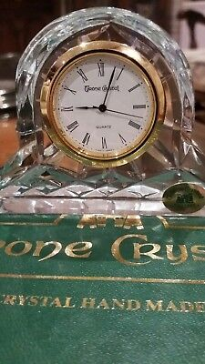 Tyrone Crystal  mantle clock.  New in box