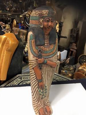 Vintage Unique Large Egyptian Statue Goddess Hathor Hand Carved Made in Egypt