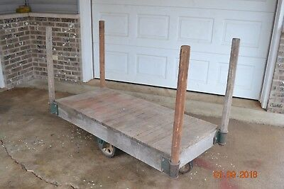 Vintage Industrial Factory Warehouse/Railroad/Factory Cart Cast Iron