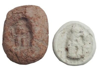 ANCIENT EGYPTIAN AMULET MOLD Red terra cotta, C.1200 BC.