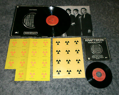 KRAFTWERK Radioactivity US Version LP - Stickersheet Promo Beilage + french 7""