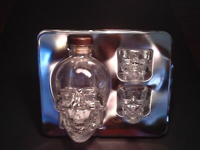 Crystal Head Vodka 750 Skull ML Bottle Decanter Jug Skull Shot Glasses Clear