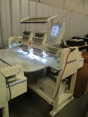 Used 1502 meistergram embroidery machine 2 head commercial printing equipment