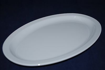 "NEW 2DZ  US 516  15-1/2""X10 7/8""  Oval Restaurant Platters OP-616   White"