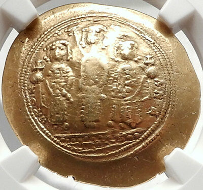 JESUS CHRIST Romanus IV Eudocia & Sons ANCIENT Gold Byzantine Coin NGC XF i66651