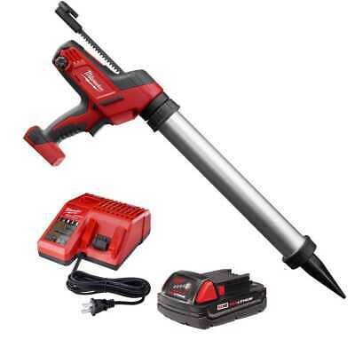 Milwaukee 2642-21CT M18 Cordless 20oz Sausage Style Caulk Adhesive Gun Kit New