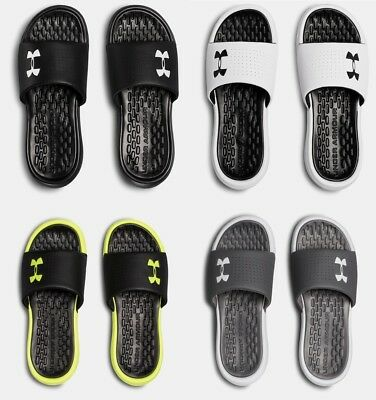 watch d862d aef26 Under Armour Men s UA Playmaker Fixed Strap Slides Sandals Many Sizes