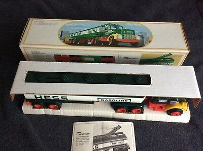 1984 Hess Truck Tanker With Bank, Mint With Full Working Lights, Box Near Mint