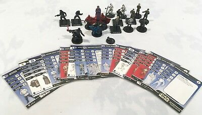 Star Wars Miniatures Game Death Star Imperials & Officers Lot of 17