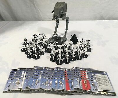 Star Wars Miniatures Game Imperial Ground Assault Lot of 37