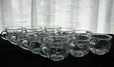 Jeannette Glass 12 Clear Fruit 5 ounce Punch Cups