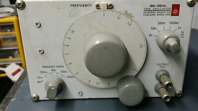 General radio 1309 oscillator 10hz-100khz