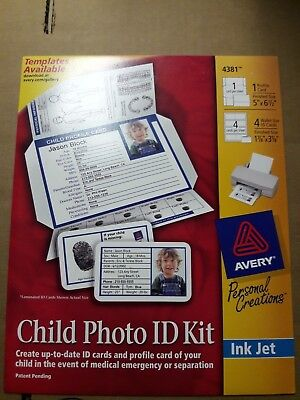 15 sets of Avery Child Safety Photo ID Kit for Kids and Babies Wholesale Lot