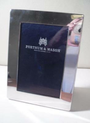 A Quality Silver 'Fortnum & Mason' Leather Backed Dual Photo Frame: London 2000