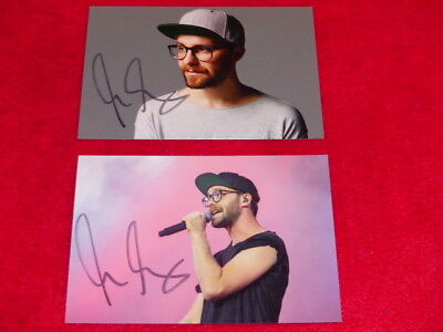 2x Autogramm Foto MARK FORSTER Musik The Voice of germany - original signiert