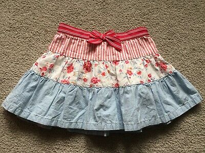 Janie And Jack Girls Floral Skirt Size 2t EUC pink blue Easter pastel