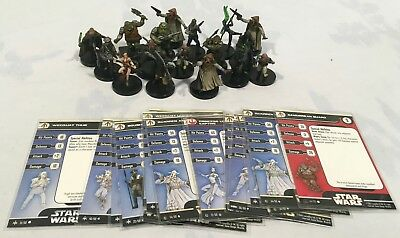 Star Wars Miniatures Game Rebels at Jabba's Palace Lot of 17