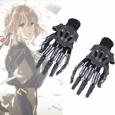 Violet Evergarden Cosplay Prop Accessory Gloves 1 Pair Hand Gauntlet Knuckles